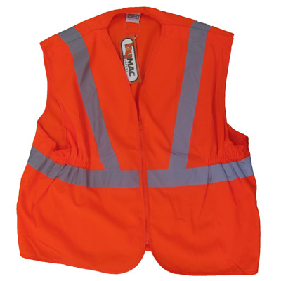 HYM022 Hymac Hi Vis Long Rail Vest (Orange)