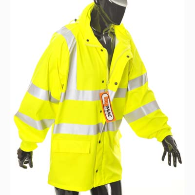 HYM194  Hymac Hi Vis Waterproof Jacket (Yellow)