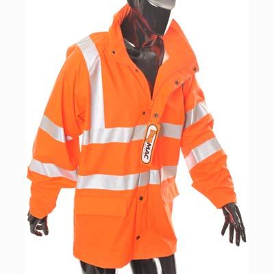 HYM005 Hymac Hi Vis Waterproof Jacket (Orange)