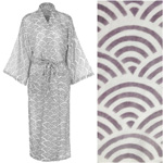 Women's Cotton Dressing Gown Kimono - Rainbow Grey