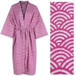 Women's Kimono Dressing Gown - Rainbow Pink - outlet