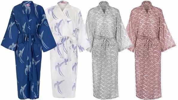 Susannah Cotton Kimono Dressing Gowns
