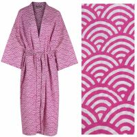 Women's Kimono Dressing Gown - Rainbow Pink - outlet