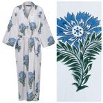 Women's Cotton Dressing Gown Kimono - Wild Flower