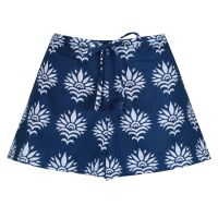 Women's Shorts - SunFlower on Dark Blue
