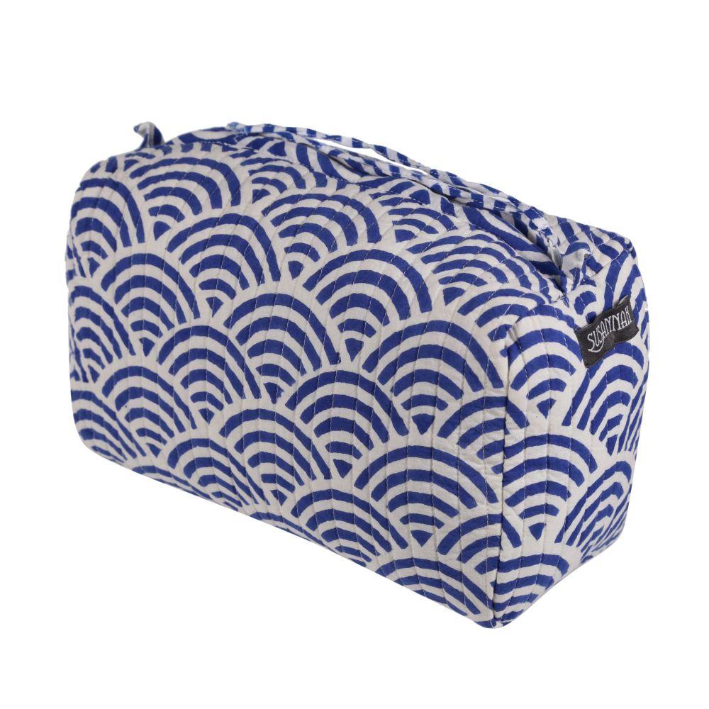 Wash Bag - Rainbow Blue