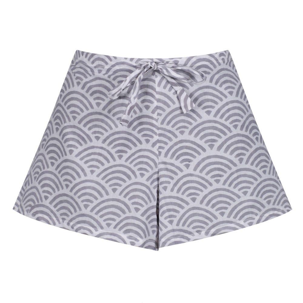 Women's Cotton Shorts - Rainbow Grey