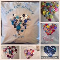 Button Heart/Star Cushions