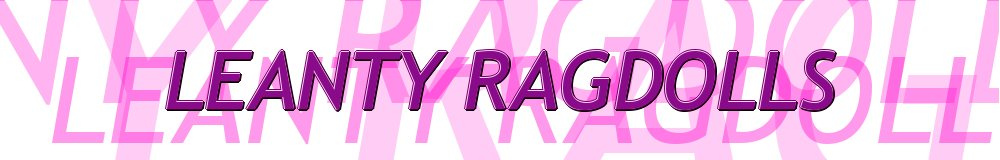 LEANTY RAGDOLLS, site logo.