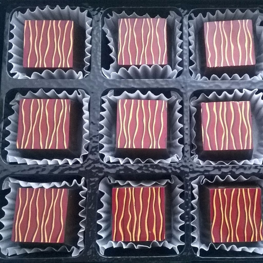 blood orange caramel chocolates