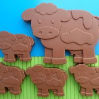 Chocolate Cow and Calves