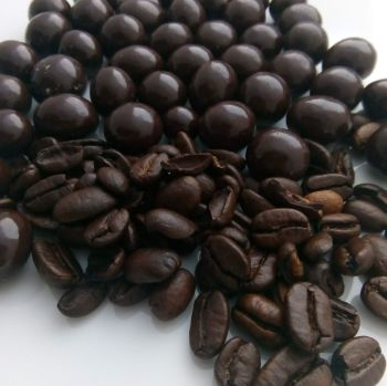 Roasted Coffee Beans in Dark Chocolate