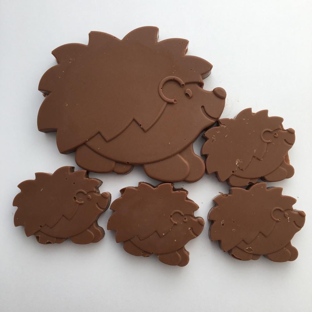 Milk chocolate hedgehogs
