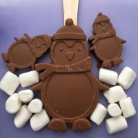 Penguin Hot Chocolate Stirrer (Milk)
