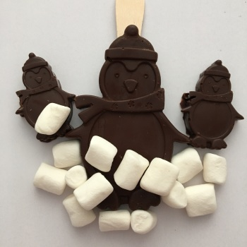 Penguin Hot Chocolate Stirrer (Dark)
