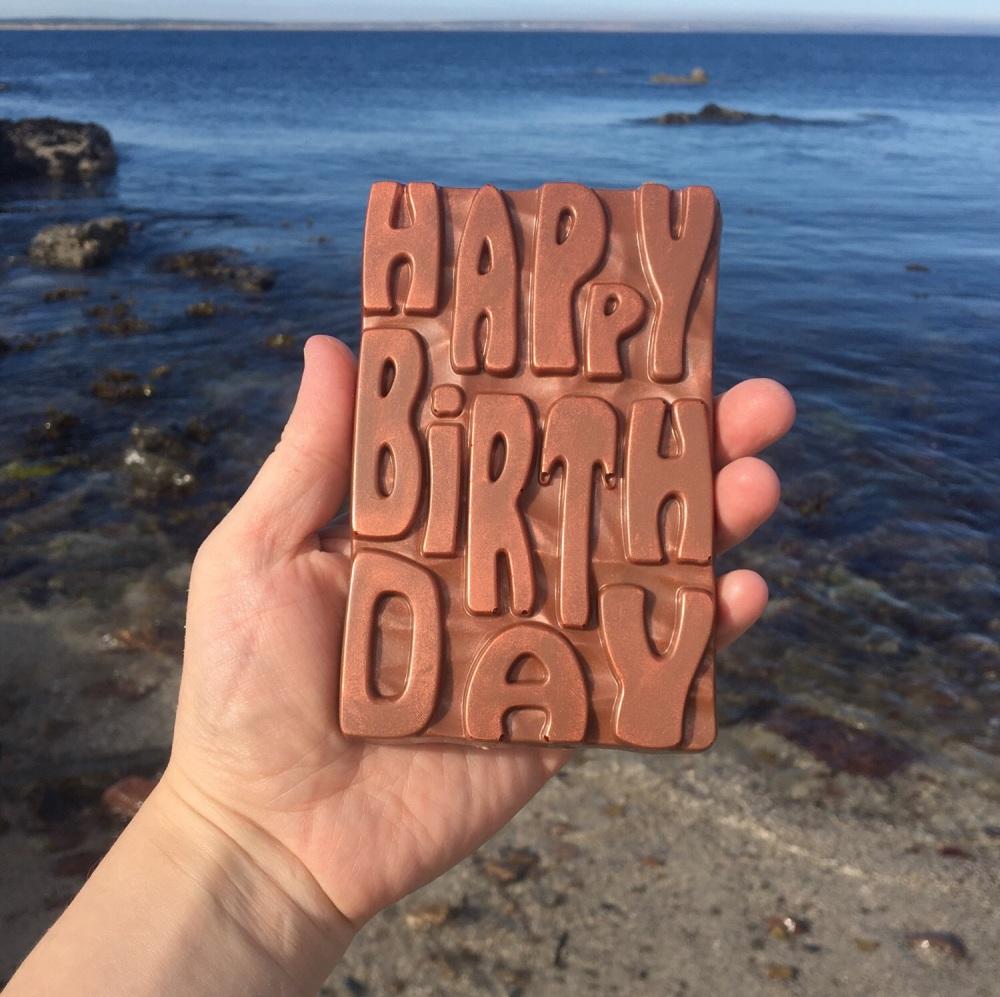 Happy Birthday Dark Chocolate Bar