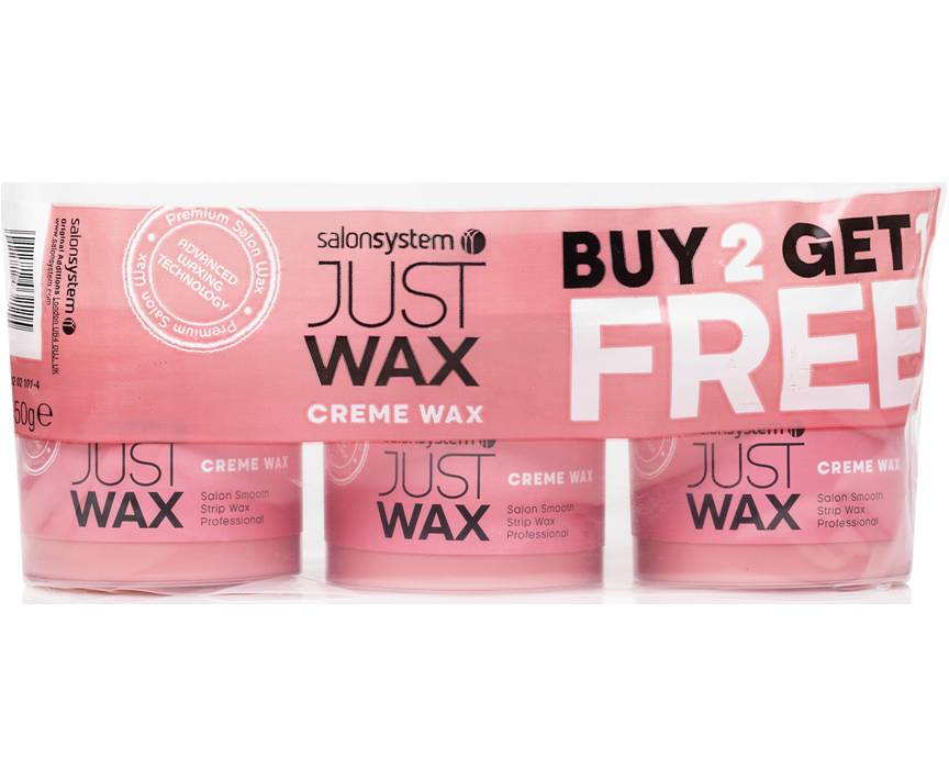 Just Wax Creme Wax 450g 2+1 Free Pack