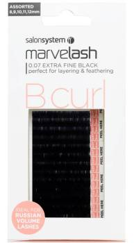 Marvelash Lashes B Curl 0.07 Extra Fine Assorted Sizes 7500 Pack