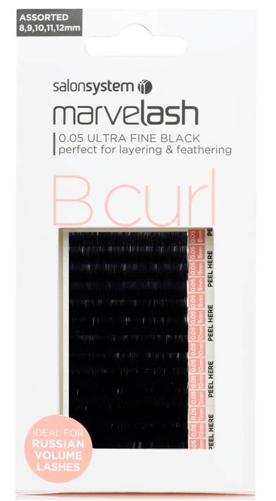 Marvelash Lashes B Curl 0.05 Ultra Fine 8,9,10,11&12mm 9000 Pack
