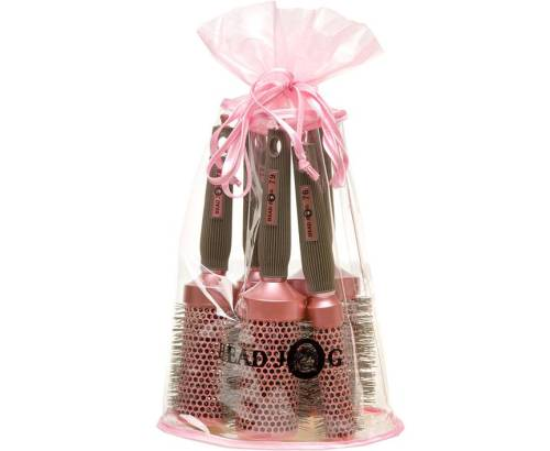 Headjog Oval Pink Brush Set 5 Pack