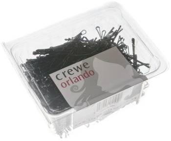 "Crewe Hair Grips Waved 2"" 500 Pack Black"