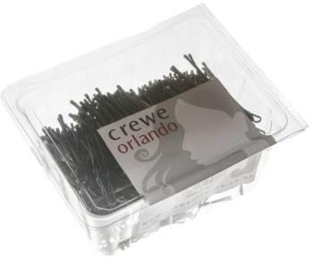 """Crewe Hair Grips Waved 2"""" 500 Pack Brown"""