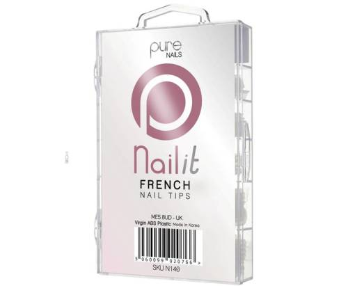 Pure Nails French White Tips 100 Pack