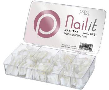 Pure Nails Natural Full Well Tips 500 Pack