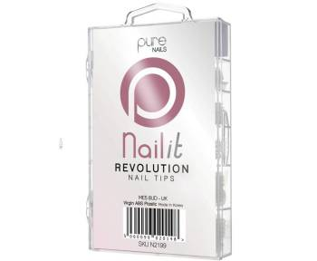 Pure Nails Revolution Half Well Tips 100 Pack