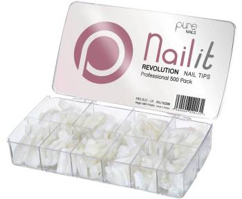 Pure Nails Revolution Half Well Tips 500 Pack