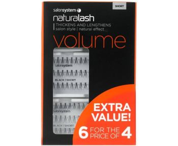 Individual Lashes Flare Black Short 6 For Price Of 4 Pack
