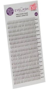 Eyelash Emporium Lashes 3D Fans 0.10, 9-12mm Lengths