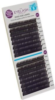 Eyelash Emporium Lashes B Curl 0.15 & 0.18, 7-13mm Lengths