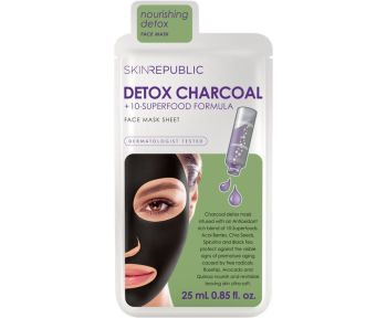 Skin Republic Detox Charcoal+ Face Mask Sheet