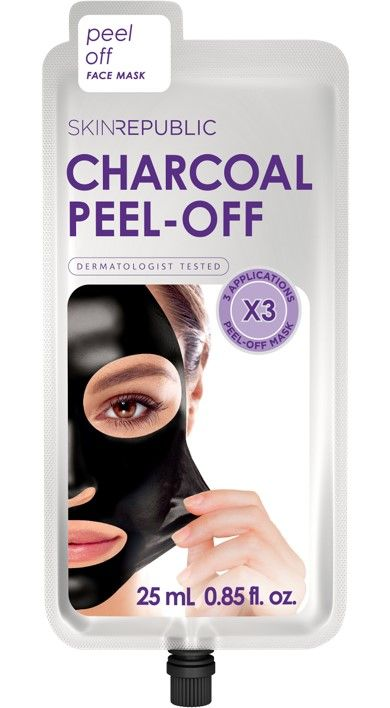 Skin Republic Charcoal Peel Off Face Mask 3 Applications