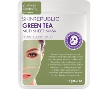 Skin Republic Green Tea Mud Sheet Face Mask