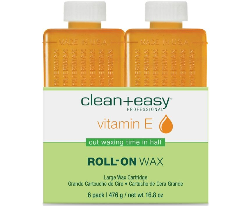 Clean & Easy Vitamin E Wax Refill Large 6 Pack
