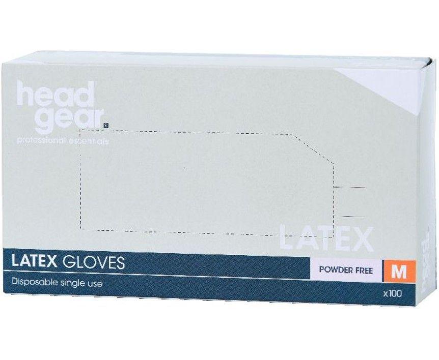 HeadGear Gloves Latex Powder Free  Medium 100 Pack