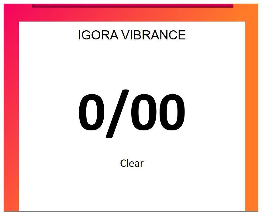 Igora Vibrance 60ml 0/00