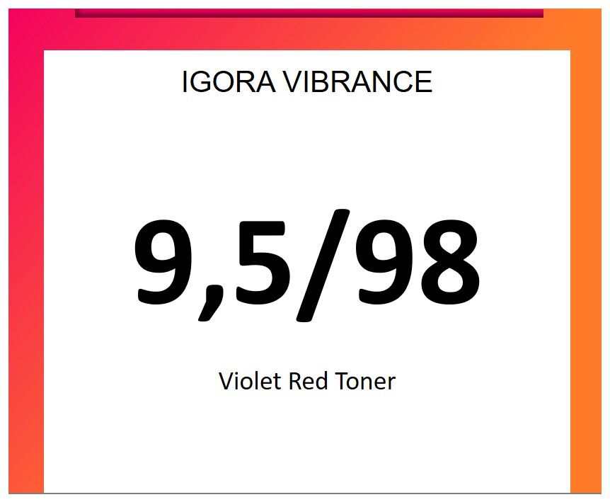 Igora Vibrance 60ml 9.5/98