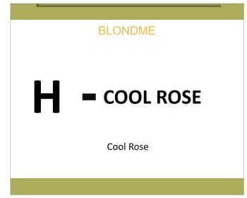 Blond Me Blonde Hi-Lighting Cool Rose 60ml