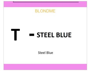 Blond Me Blonde Toning Steel Blue 60ml