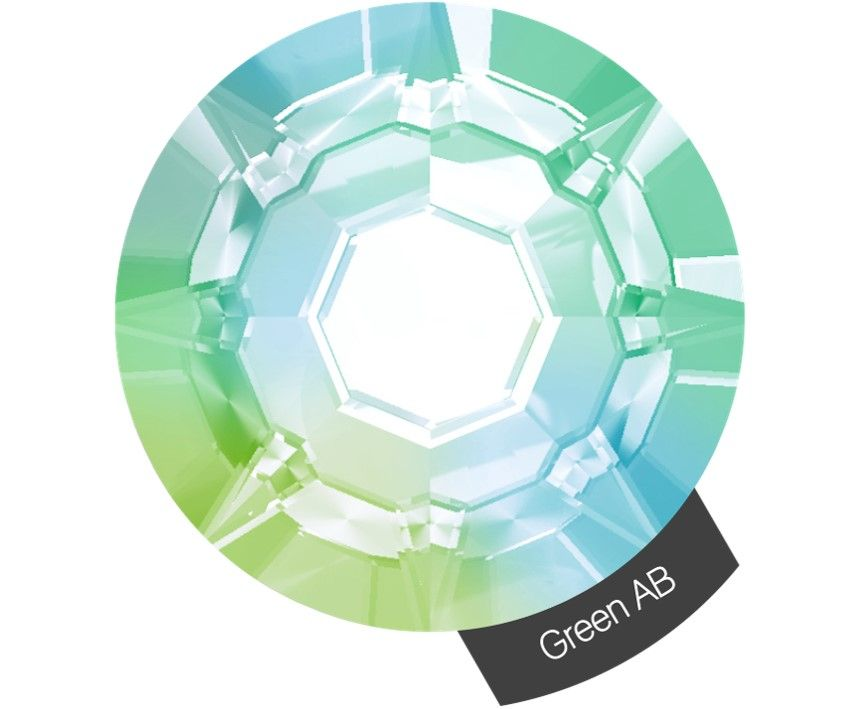 Halo Create Size 2 Crystals 288 Pack Green AB