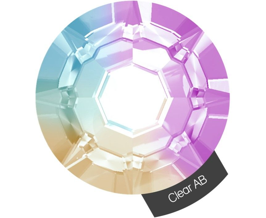 Halo Create Size 3 Crystals 288 Pack Clear AB