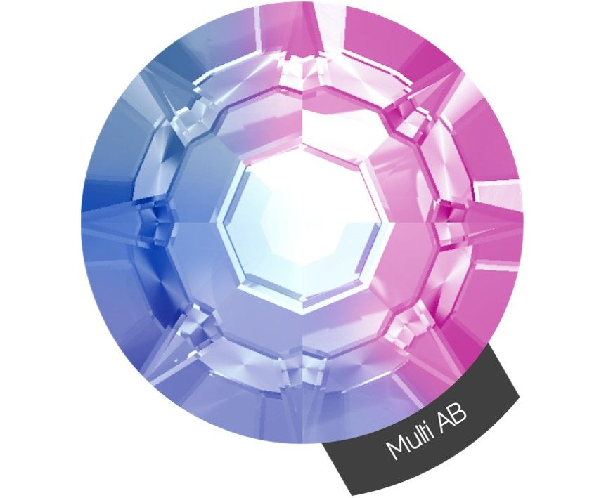 Halo Create Size 3 Crystals 288 Pack Multi Colour AB