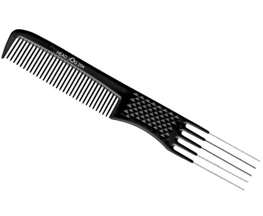 HeadJog 204 Black Metal Pin Comb