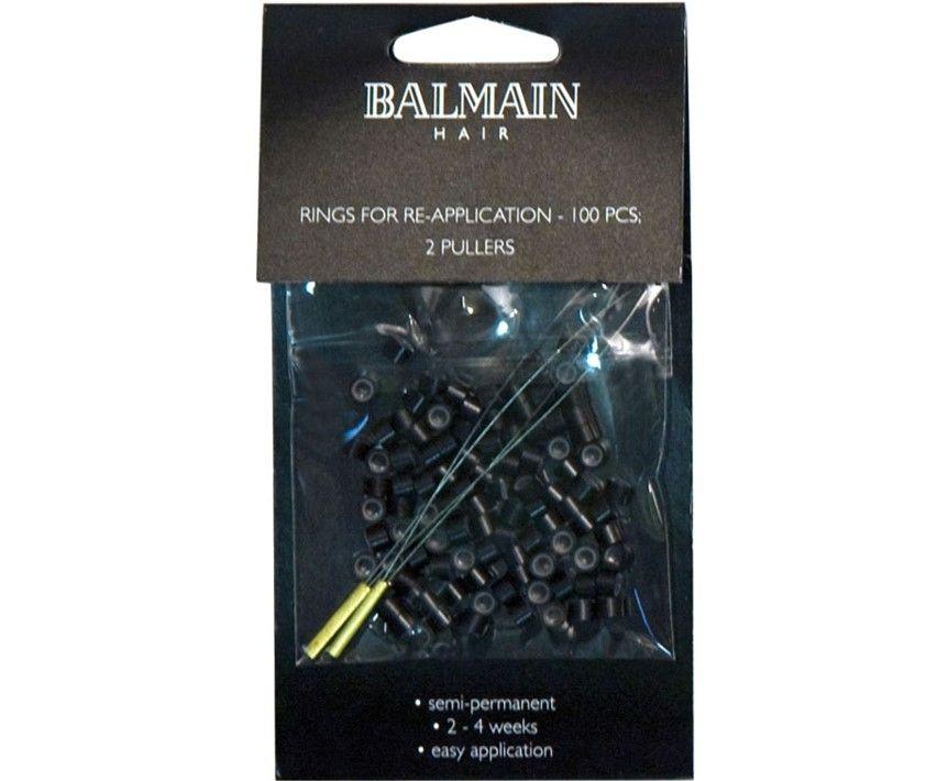 Balmain Hair Soft Rings Black 100 Pack