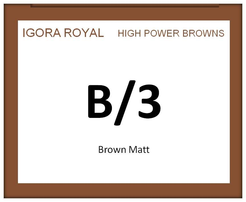Igora Royal High Power Browns 60ml B/3