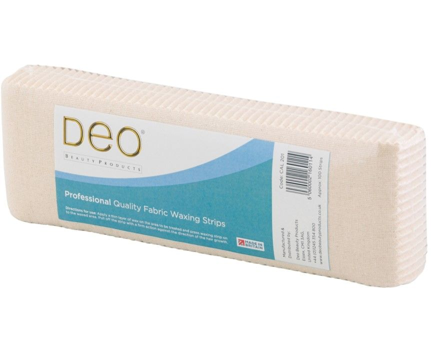 DEO Fabric Wax Strips 100 Pack