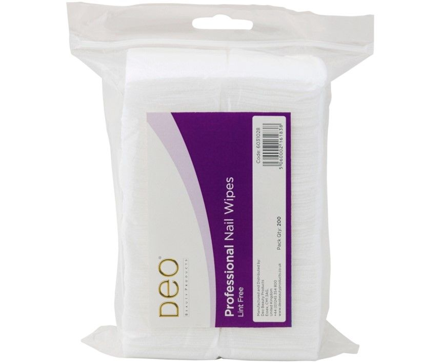 DEO Lint Free Nail Wipes 200 Pack